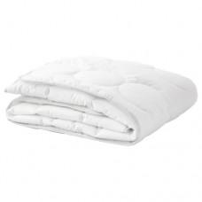 لحاف سرير أطفال لون أبيض ورمادي