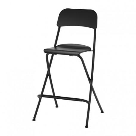 كرسي بار  قابل للطي أسود 63 سم