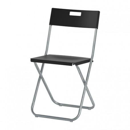 كرسي قابل للطي أسود