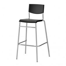 كرسي بار, أسود, لون-فضي 74 سم