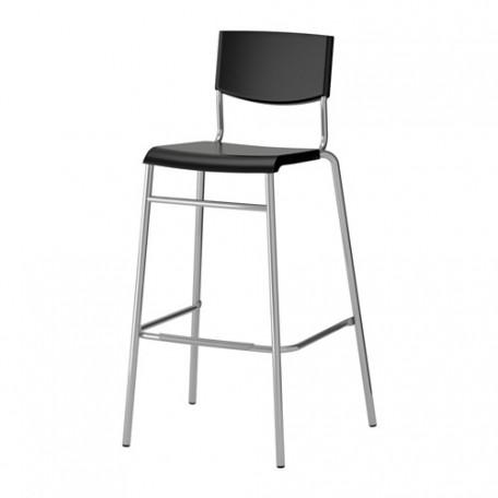 كرسي بار أسود لون فضي 74 سم