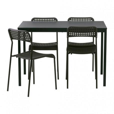 طاولة و4 كراسي أسود
