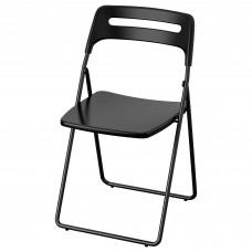 كرسي قابل للطي لون أسود
