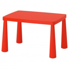 طاولة أطفال للأماكن الداخلية/الخارجية احمر