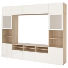 تشكيلة خزانة للتلفزيون مع أبواب زجاجيه