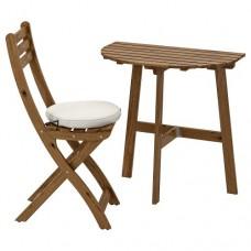 طاولة حائط + كرسي قابل للطي ، خارج المنزل