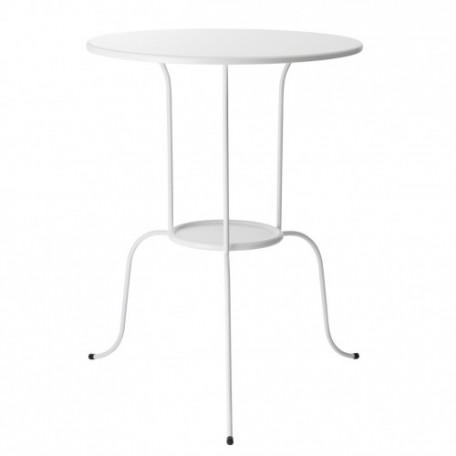 طاولة جانبية أبيض