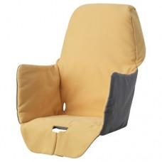 غطاء مقعد مبطن لكرسي مرتفع أصفر