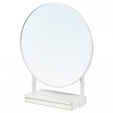 مرآة طاولة أبيض