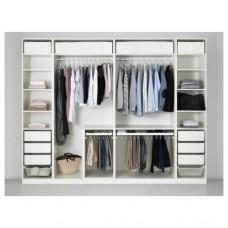 خزانة ملابس لون أبيض مفتوحه 300x60x236 سم