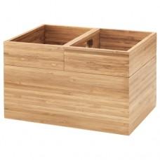 صندوق مجموعة من 3 قطع من الخيزران