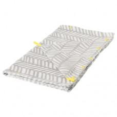منشفة مع غطاء لون رمادي أصفر