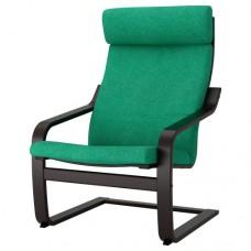 كرسي بذراعين, أسود - بني,أخضر زاهي