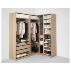 خزانة ملابس زاوية لون خشبي