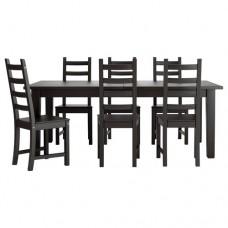 طاولة و6 كراسي لون فنجا
