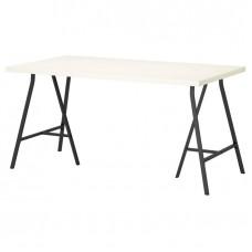طاولة مكتب لون ابيض 150x75 سم