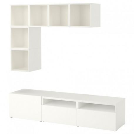 تشكيلة خزانة للتلفزيون لون أبيض