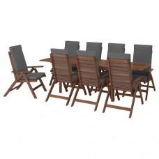 طاولة + 8 كراسي قابلة للتعديل