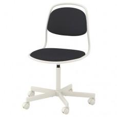 كرسي دوار لون أبيض وأسود