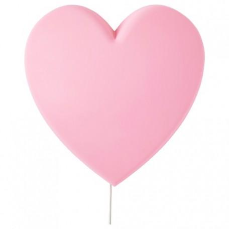 اضاءة شكل قلب لون زهري
