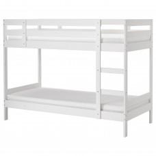 سرير بطابقين.، أبيض، 90x200 سم