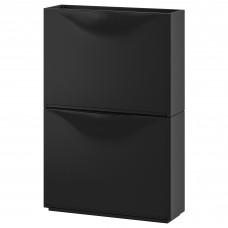خزانة أحذية/خزانة، أسود، 52x39 سم