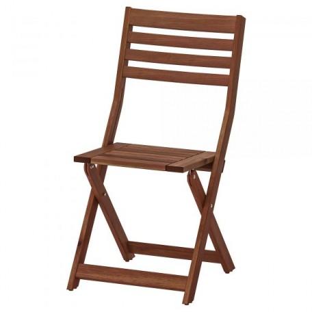 كرسي، خارجي، قابل للطي صباغ بني