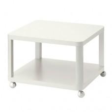 طاولة صالون على عجلات لون أبيض
