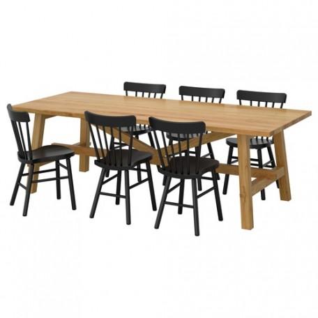 طاولة و6 كراسي خشب البلوط