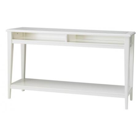 طاولة كونسول لون أبيض وزجاج