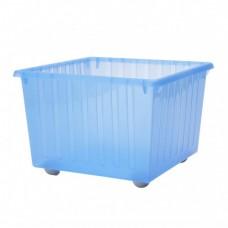 عربة تخزين مع عجلات لون أزرق