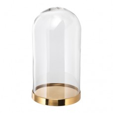 قبة زجاجية مع قاعدة 19 سم