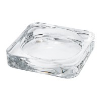 طبق شمع زجاج شفاف