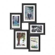 إطار كولاج لـ 5 صور أسود