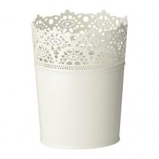 وعاء نباتات أبيض عاجي للأماكن الداخلية/ الخارجية