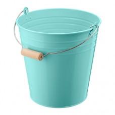 دلو/وعاء نباتات داخلي/خارجي لون فيروزي 10 لتر