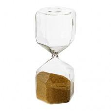 ساعة رملية تزيينية زجاج شفاف