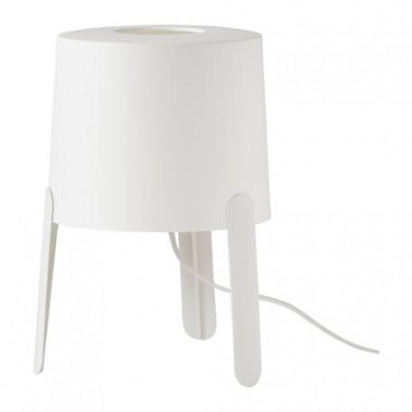 مصباح طاولة لون أبيض فقط