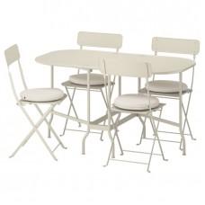 طاولة قابلة للطي + 4 كراسي