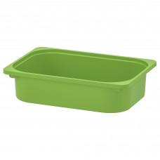 صناديق تخزين 42x30x10 سم لون اخضر