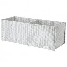صندوق بحجيرات، أبيض/رمادي، 20x51x18 سم