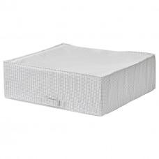 حقيبة تخزين، أبيض/رمادي، 55x51x18 سم