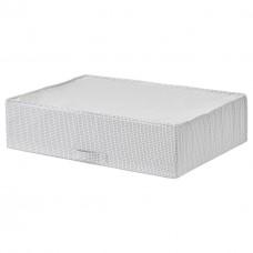 حقيبة تخزين، أبيض/رمادي، 71x51x18 سم
