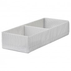 صندوق بحجيرات، أبيض/رمادي، 20x51x10 سم