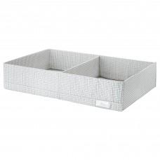 صندوق بحجيرات، أبيض/رمادي، 34x51x10 سم
