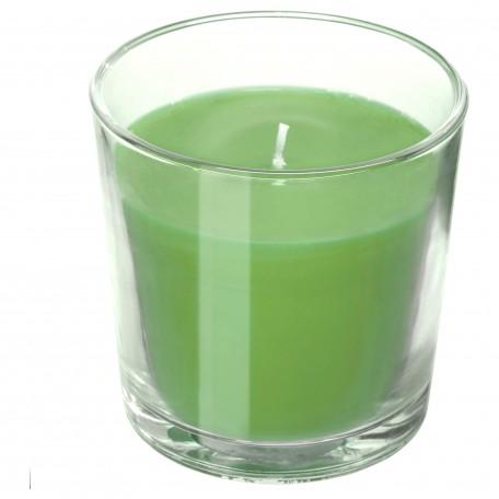 شمعة معطرة في كأس، تفاح وكمثرى, أخضر، 7.5 سم