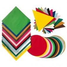 ورق أوريجامي ألوان مختلطة أشكال مختلطة