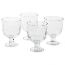 كأس زجاج شفاف 4 قطع
