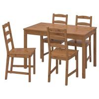 طاولة + 4 كراسي خشب صنوبر