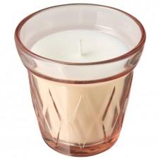 شمعة معطرة في كأس توت أحمر, زهري